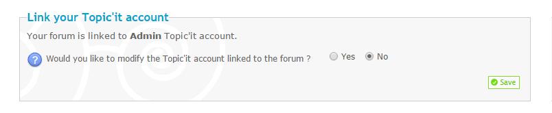 Forumieren-Forum und Topic'it-Account verbunden