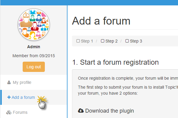 Add a forum on Topic'it