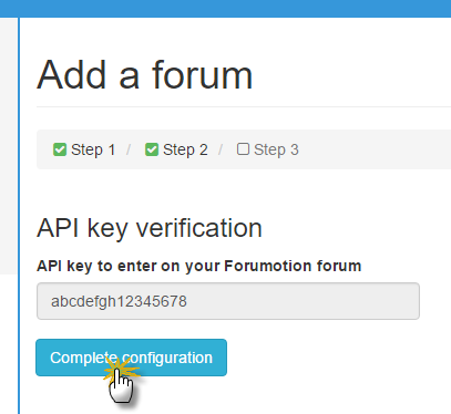 Complete Forumotion forum setup on Topic'it