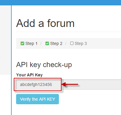 verify  API Key