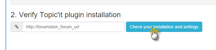 Verificación de la instalación del plugin Topic'it