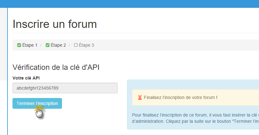 Terminer l'inscription d'un forum Forumactif