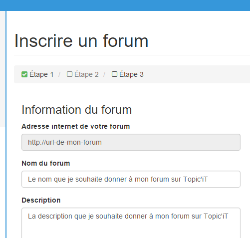 inscrire son forum