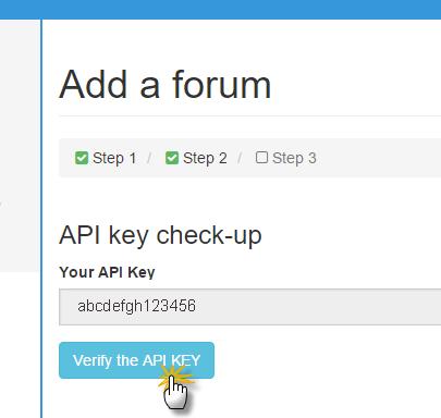 Verifica chiave API