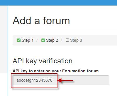 Verificação da chave do API Topic'it