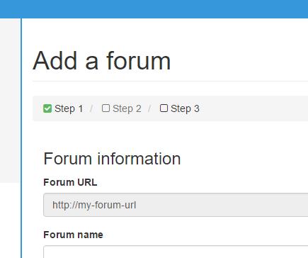 Adicionando o fórum